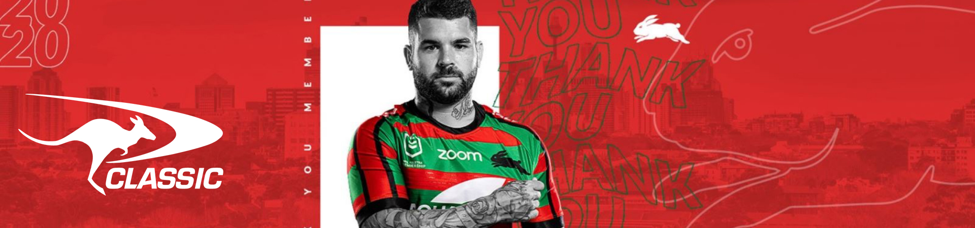 Classic Sportswear Team Up With South Sydney Rabbitohs on Special Members' Jersey